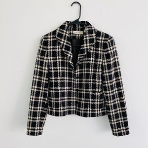 Amanda Smith Black Checkered Blazer 4